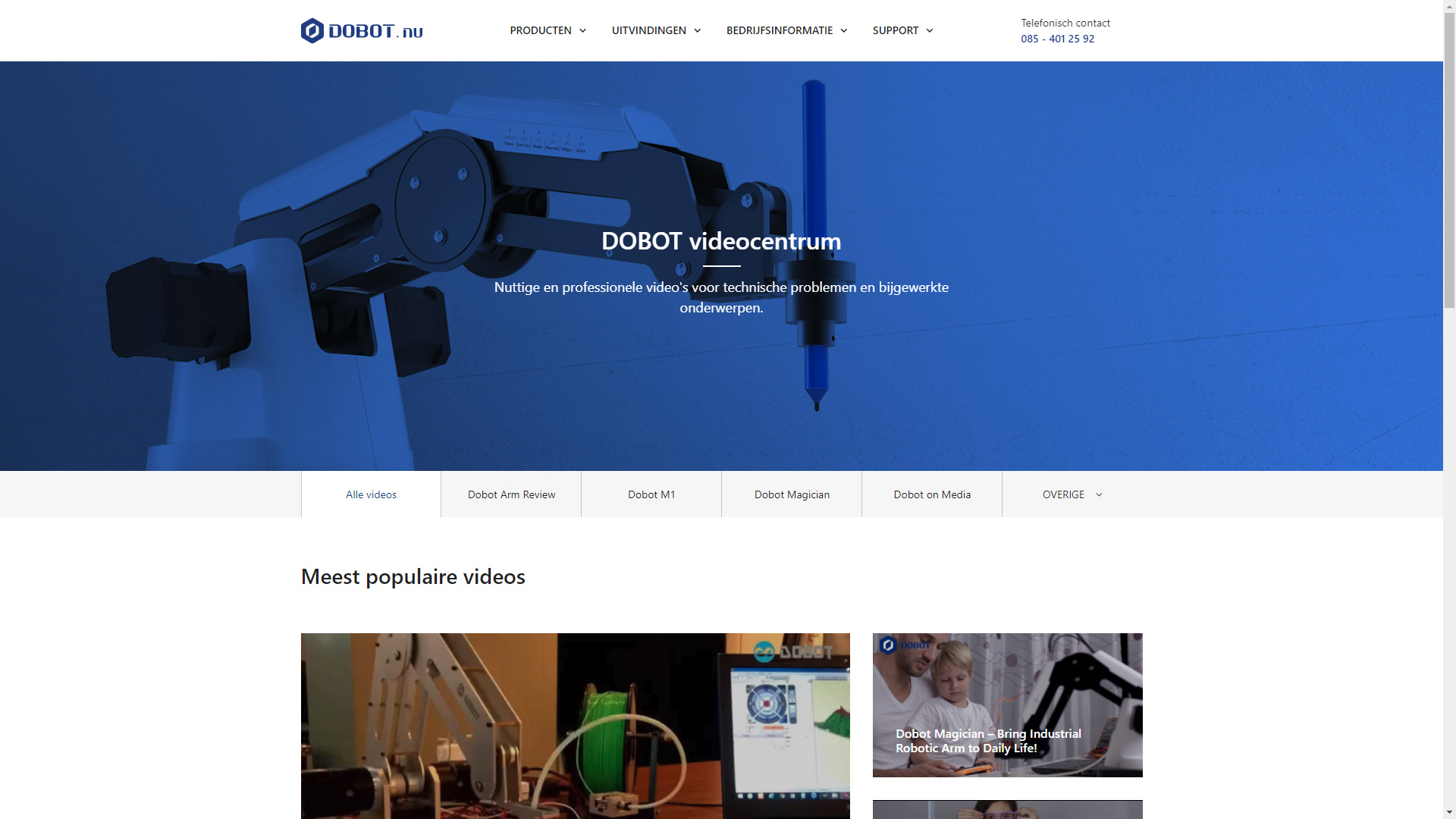 DOBOT.nu - Videocentrum